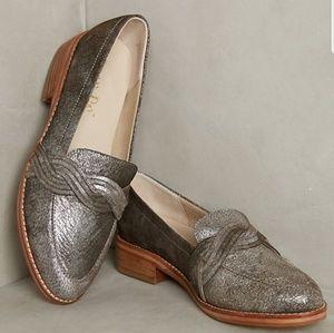Anthropologie Liendo Harriet loafer metallic 7.5 M